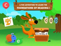 The Joy of Reading is a comprehensive collection of 9 multilevel games that are designed to develop early reading skills. Download KinderTown to learn more and download the app.
