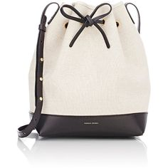 Mansur Gavriel Mini-Bucket Bag (20,000 PHP) ❤ liked on Polyvore featuring bags, handbags, shoulder bags, black, leather shoulder handbags, black handbags, leather purse, black purse and mini shoulder bag