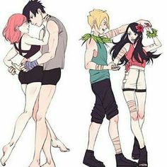 SasuSaku and BoruSara. I think, maybe i ship BoruSara anyway<3