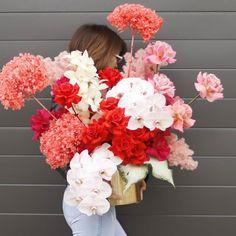 Montana Flora (@montana__flora) • Instagram photos and videos Wedding Flower Packages, Red Wedding Flowers, Beautiful Bouquet Of Flowers, Bridesmaid Flowers, Red Flowers, Floral Wedding, Wedding Bouquets, Beautiful Flowers, Red And White Weddings