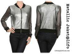 So cool matallic jacket at lifoapparelusa.com