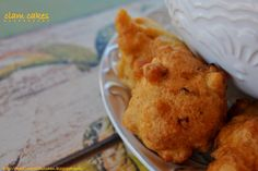 crispy clam cakes as seen on Diner's Drive in's and Dives