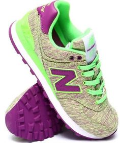 New Balance Women 574 Glitch Sneakers Lime Green