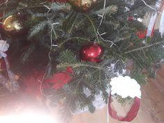 Christbaum Schmuck mit Satin Blumen Christmas Wreaths, Christmas Tree, Christen, Satin, Holiday Decor, Red, Home Decor, Trees, Jewlery