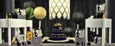 Great Gatsby Theme Party DecorI love the Great Gatsby ( the book, not the movies lol) so I decided that one of the couples in my latest story will have a Gatsby themed wedding! This set comes...