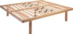 Piano letto realizzato con legno di faggio di altissima qualità che garantisce elevata elasticità e durata nel tempo. Realizzato seguendo le più rigide norme in materia di salvaguardia dell'ambiente.