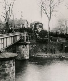Train accident in Motala, Sweden 1919
