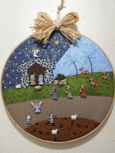 Christmas Nativity Scene, Felt Christmas, Christmas Tree Decorations, Christmas Wreaths, Christmas Crafts, Handmade Felt, Sewing Crafts, Diy And Crafts, Quilts