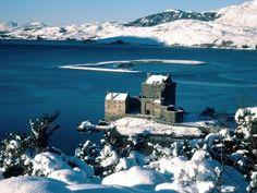 Eilean Donan Castle on Loch Duich, Scotland.