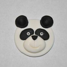 Panda Bear Fondant Cupcake Cake or Cookie by LadyCupcakesCorner, $16.95