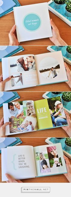 Like this as a title: collect moments, not things Family Photo Album, Album Photo, Book Design Layout, Album Design, Book Projects, Photo Projects, Photoshop Book, Project Life, Diy Crafts To Do