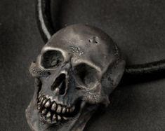 Vampire Skull RingLarge Size Mens Silver Skull Ring