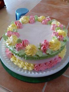 52 Ideas Cupcakes Flower Pastel For 2019 Buttercream Cake Designs, Cake Icing, Eat Cake, Cupcake Cakes, Spring Cake, Summer Cakes, Cake Decorating Techniques, Cake Decorating Tips, Pretty Cakes