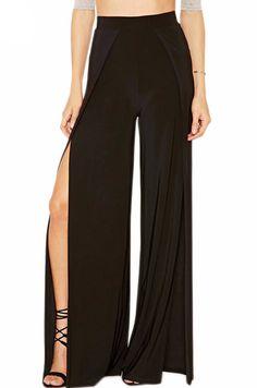 Just In Nicole High Waist... Shop Now! http://www.shopelettra.com/products/nicole-high-waist-slit-cutout-wide-leg-pants?utm_campaign=social_autopilot&utm_source=pin&utm_medium=pin #love #ootd