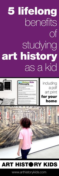 Kids who are introduced to art history at a young age (the younger the better) enjoy so many lifelong benefits. Print the Art History Kids philosophy and post it in your art area or kid's room as a reminder to enjoy art together every day... even if only for 5 minutes.