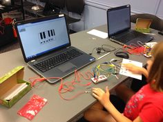"""""""The Show Me Librarian: Creating Computer Games with MaKey MaKey and Scratch"""" 0 use MaKey MaKey to create keys, then program Scratch maze, then use keys to navigate."""