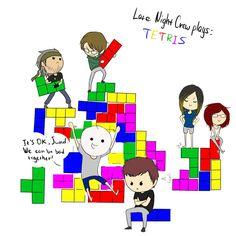 Tetris with the late night crew