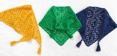 幾何学模様の三角ストール | 編み物キット販売・編み方ワークショップ|イトコバコ