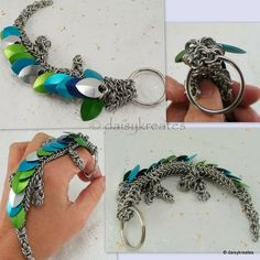 chainmaille dragon for keyring
