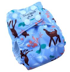 Sweet Fawn Periwinkle AIO Cloth Diaper with PUL Snaps - XS 0-3 Months Newborn Infant Girls