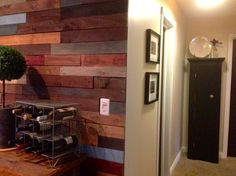 Kitchen With Pallet Wall Finally Finished. Orange Oak is Gone! :: Hometalk
