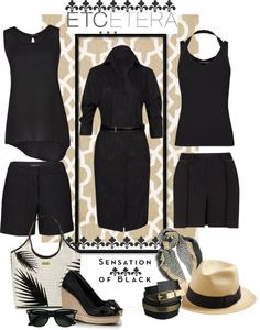 """""""best blacks of summer"""" by lee522 ❤ liked on Polyvore"""