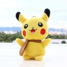 Kawaii Pikachu with Brown Scarf 13cm Plush Toy  #Kawaii #KawaiiPikachu #KawaiiPikachuWithBrownScarf13CmPlushToy #PikachuKawaii #PikachuPlush #PikachuPlushToy #Plush #PlushPikachu #PlushToy #PokemonPlush #PokemonPlushPikachu #PokemonPlushToys