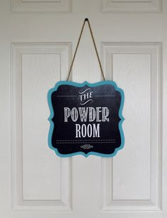 Covering A Door Hole With A Bathroom Sign   Free Printable