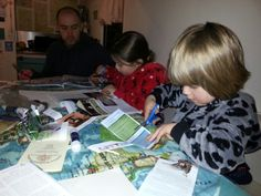 New Year's Eve family vision boarding :-)