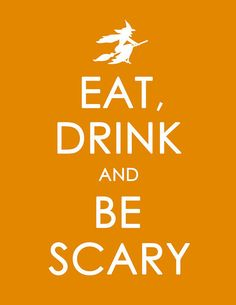 Eat, Drink and Be Scary -- Free #Halloween Printable