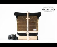 Rucksack No. 702  waxed canvas and natural leather by AlexMLynch