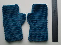 Handmade Teal Fingerless Gloves