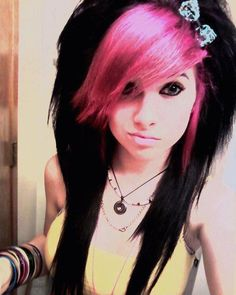 I love this i want my hair like this lol to freak everybody out :) haha