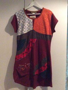 1 Kleid aus Indien Nepal Hippie Goa Stretch Einzelstueck handgemacht neu Nr. 1