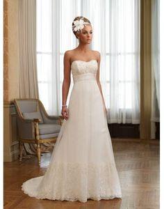 Beautiful & Unique dress - Lace Embroidery Sweetheart Taffeta A-line Wedding Dress on sale - Persun
