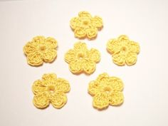 Appliques handmade flowers craft supplies by JazzysCrochet on Etsy