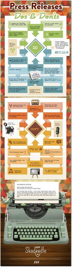 The do's and don't's of how to send out a press release #infographic www.socialmediamamma.com
