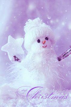 Нежный снеговичок - анимация на телефон №1301900