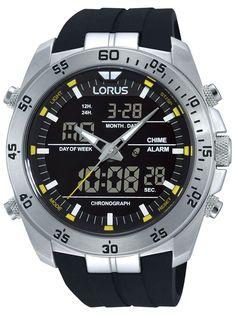 Ceasuri: Lorus RW619AX9 Analog-Digital Alarm Chronograph 100M 46mm