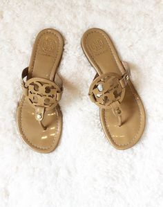 "Summer Sandal must-have: the Tory Burch ""Miller"" thong sandals."