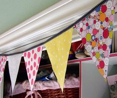 DIY fabric banner. And many other banner ideas.
