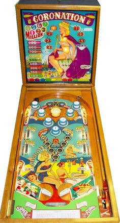 "1952 Coronation ""Gottlieb "" Pinball Machine"