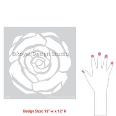 Deco Flower stencil perfect for DIY wall by royaldesignstencils