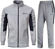 Amazing offer on YSENTO Men's Tracksuits Sports Athletic Sweat Suits Full Zip Jackets Jogger Pants Zipper Pockets online - Adonnaaclothing Mens Jogging Suits, Mens Sweat Suits, Sports Tracksuits, Nike Tracksuit, Winter Outfits Men, Casual Outfits, Track Suit Men, Athletic Pants, Sports Jacket