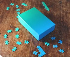 Gradient Puzzle in Blue-Green