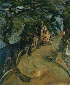 Chaïm Soutine (Russian, 1893-1943), La Route de la colline (Vence) [The Road up the Hill], c.1924. Oil on canvas, 72.4 x 60 cm.