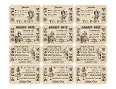 INSTANT DOWNLOAD Alice in Wonderland Tea Party by VectoriaDesigns, $3.20