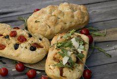 focaccia, oppskrift, topping, festfrokost, tips, oliven