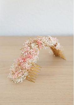 Cucullia - semicorona Imun de flores preservadas para novias