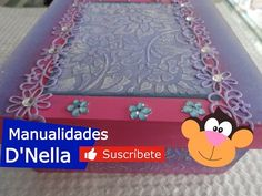 """(104) Manualidades:Cajitas con Tecnica de Stencil y pintura en 3D By:""""Taller Nella 2017"""" - YouTube Decoupage, 3 D, Lunch Box, Youtube, Videos, Google, Diy And Crafts, How To Paint, Decorated Boxes"""